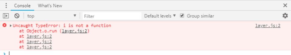 Uncaught TypeError: i is not a function