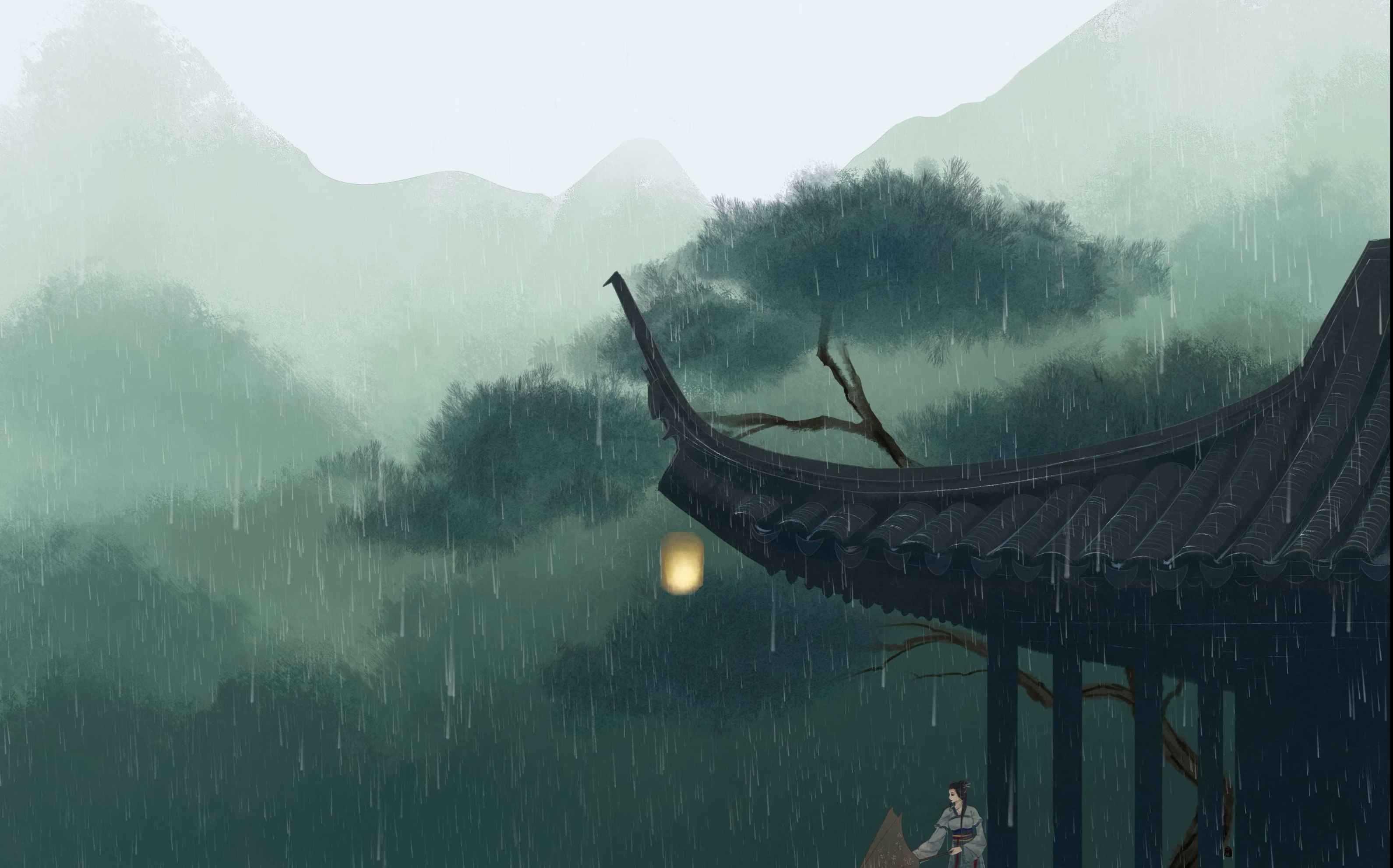 安静的夏天有雨还有美好时光